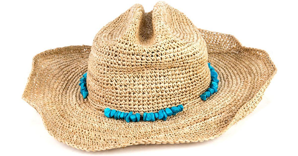 Lyst - Melissa Odabash Elle Cowboy Hat in Blue 2730364af185