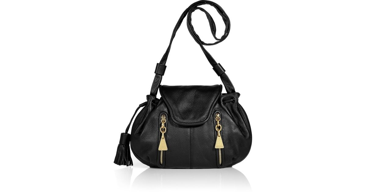 034c497ba051 Lyst - See By Chloé Black Leather Porte Epaule Drawstring Bag in Black