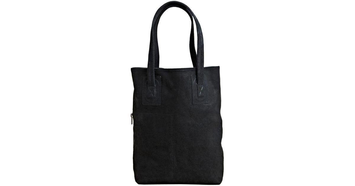 cf59a1c5173 Rick Owens Black Rick Owens Womens Leather Shopper Bag