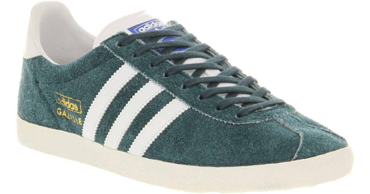a9dff272c397 adidas Gazelle Og Dark Petrol Running White Met Gold in Blue for Men - Lyst