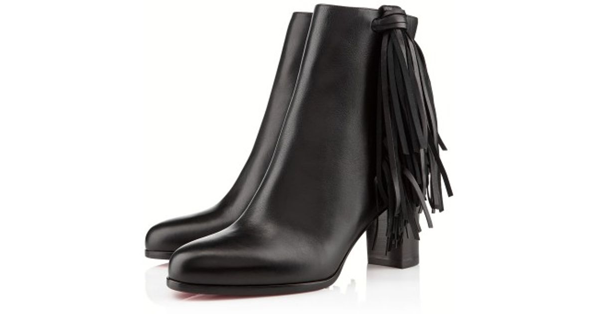 louboutin replica boots - christian louboutin leather jimmy netta ankle boots, replica ...