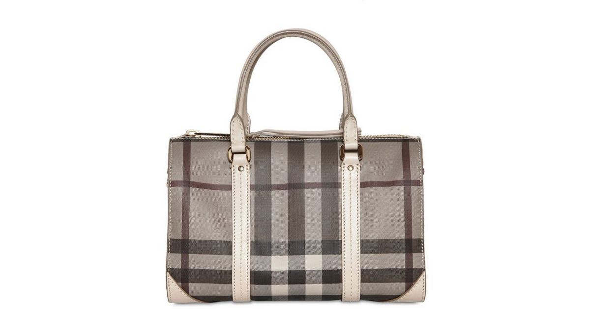 Burberry Bag Pvc Chester Small Gray Check Smoked BxdeoC