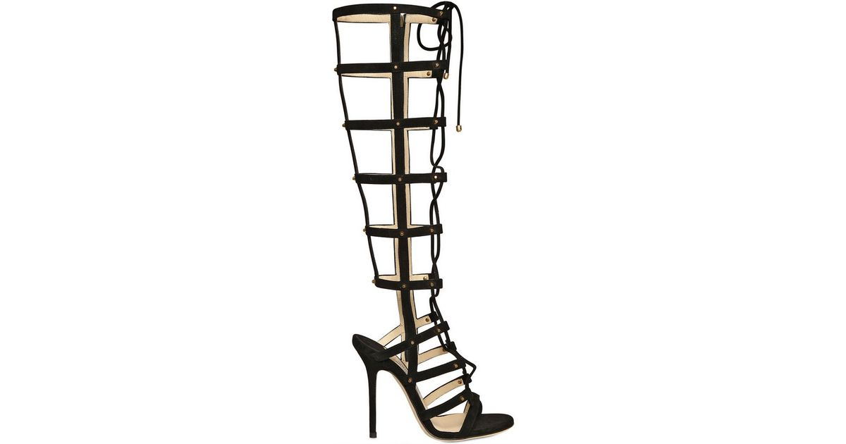 Gladiator Black Suede Jimmy Sandals Mogul Choo UMpSzV