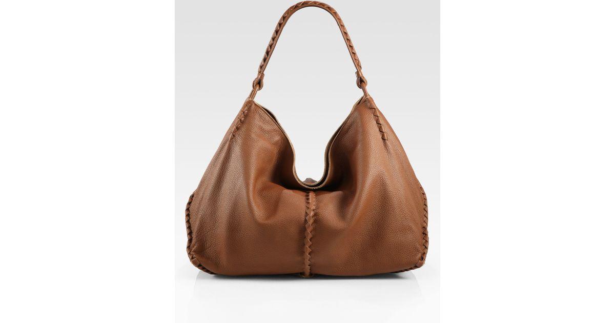 Lyst - Bottega Veneta Cervo Large Hobo Bag in Brown 7b98456ad781a