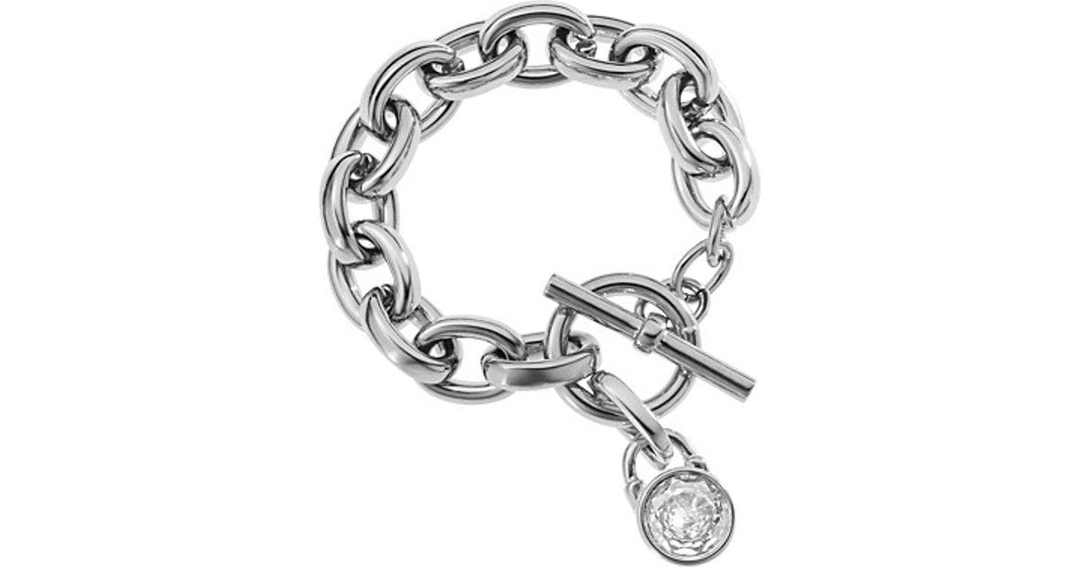 351cc42c7aab4 Michael Kors Metallic Silver Tone Toggle Link Bracelet