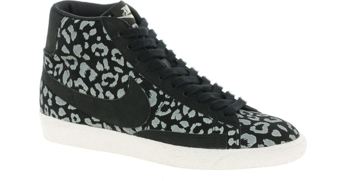 Nike Blazer Mid Black Leopard Print Trainers