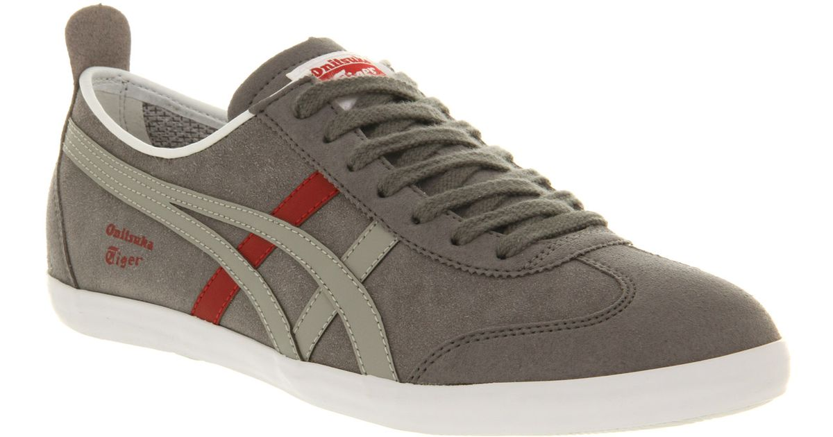 new style eb974 4e173 Onitsuka Tiger Mexico 66 Vulc Su Grey Charcoal Red in Gray for Men - Lyst