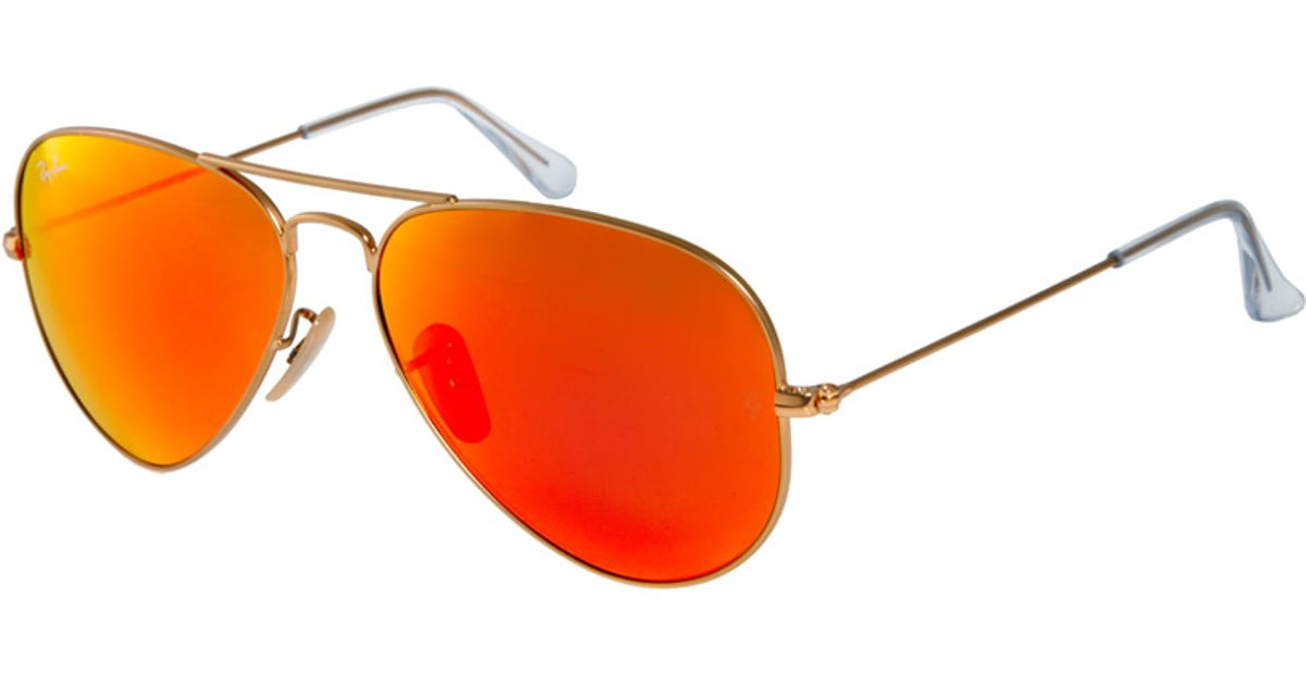 ... best lyst ray ban aviator sunglasses in red for men 17574 d1756 8bb88bb0bf
