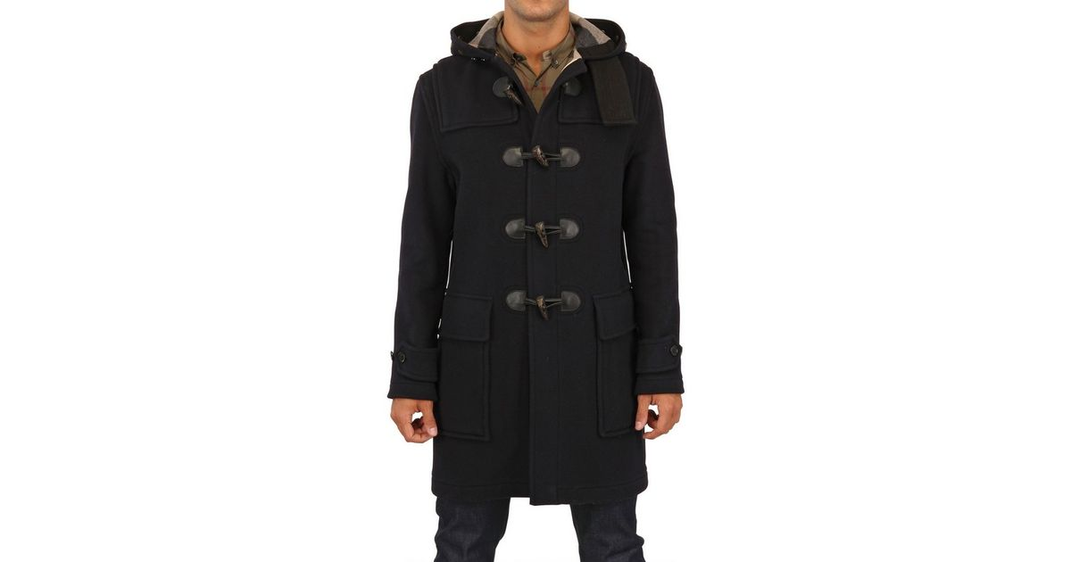 94e3f54e0d Burberry Brit Black Double Wool Felt Montgomery Coat for men