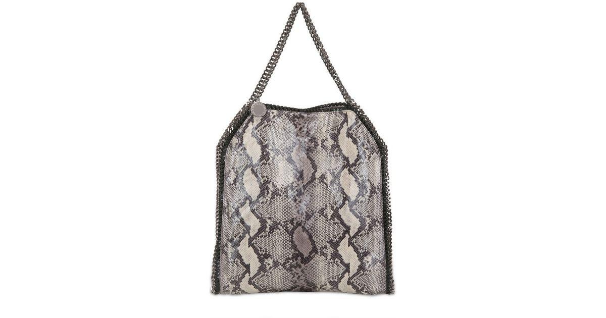 331687865219 Stella McCartney Large Falabella Faux Python Bag in Gray - Lyst