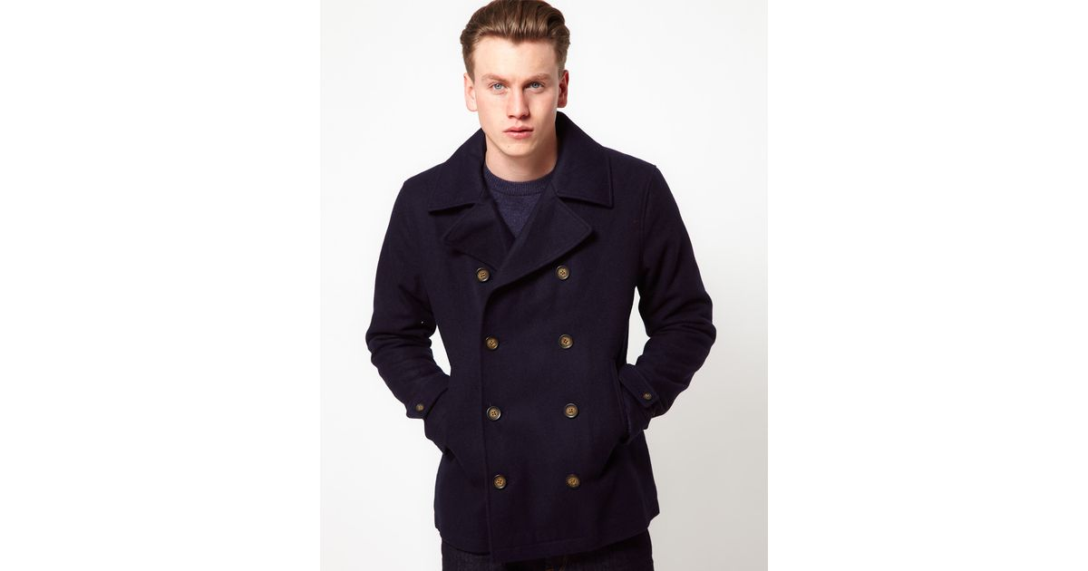 detailed pictures search for latest super cheap Original Penguin Blue Peacoat for men