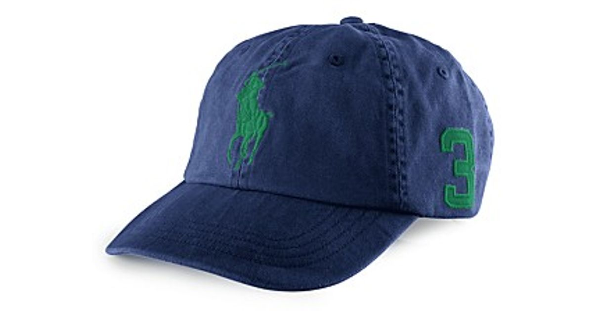 872a08d53bf70 Ralph Lauren Polo Classic Chino Sport Cap Big Pony in Blue for Men - Lyst