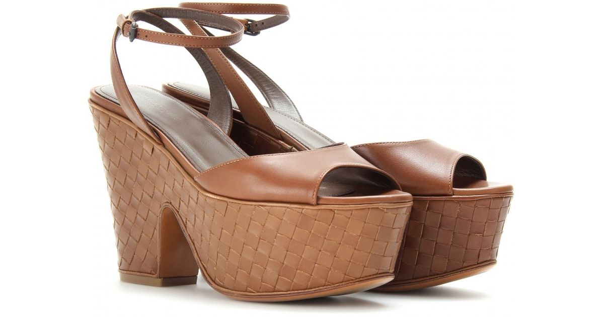 high quality online Bottega Veneta Leather Platform Sandals very cheap for sale free shipping new arrival cheap sale with paypal oZbiXzeLXZ