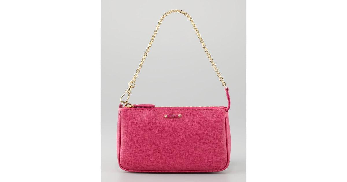 cd47f28d Fendi Crayon Pouchette Bag Pink