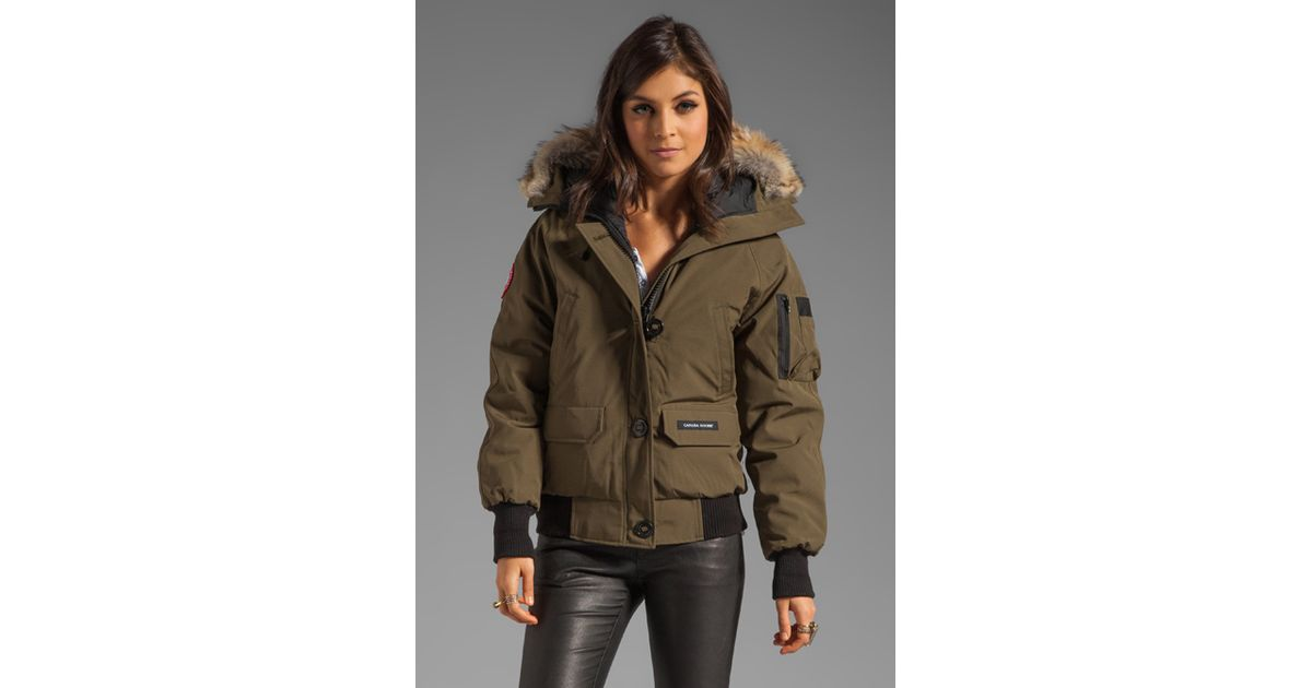 Canada Goose victoria parka online 2016 - Canada goose Chilliwack Bomber in Natural (military green) | Lyst