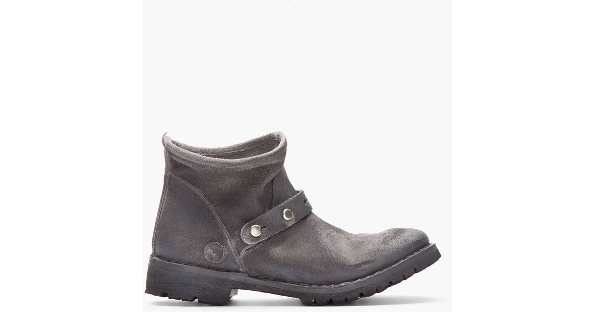 6f85d26903d00 Diesel Black Gold Suede Andersoneg Boots in Gray for Men - Lyst
