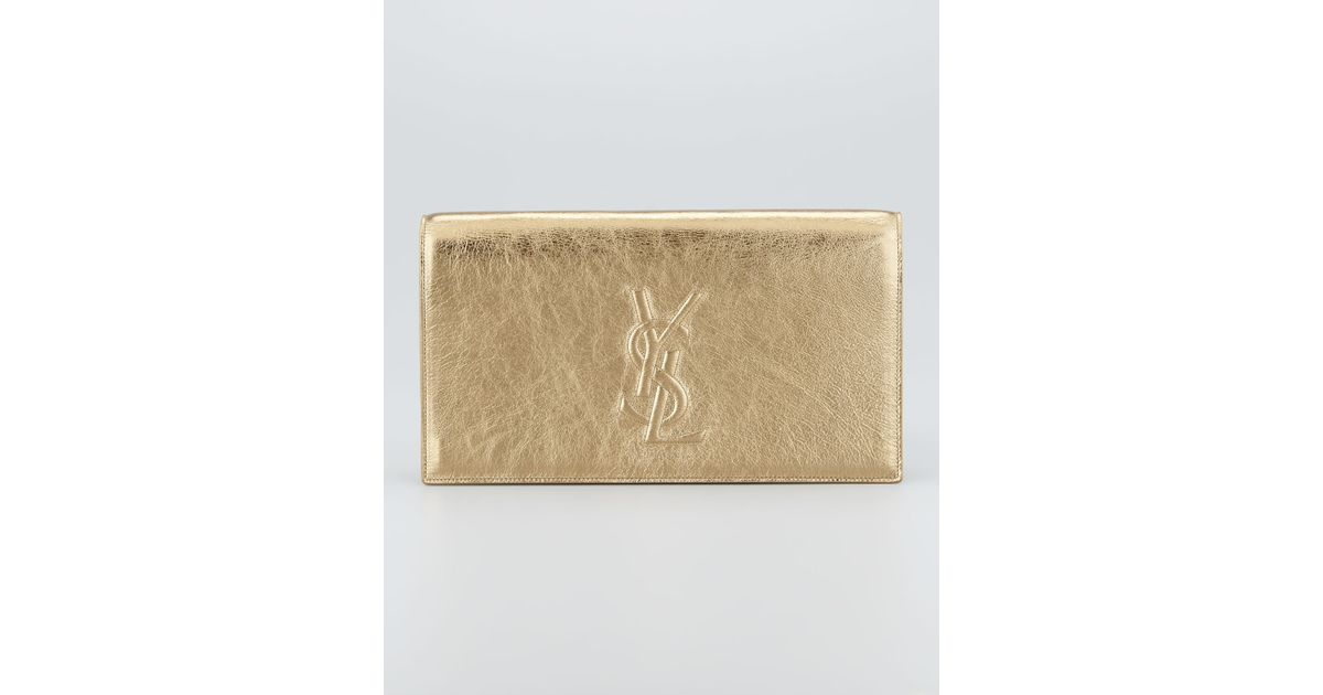 e445a70da675 Lyst - Saint Laurent Metallic Belle Du Jour Clutch Bag in Metallic