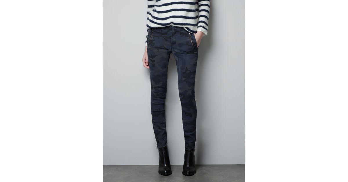 Luxury Zara Camouflage Trousers For Men  Lyst