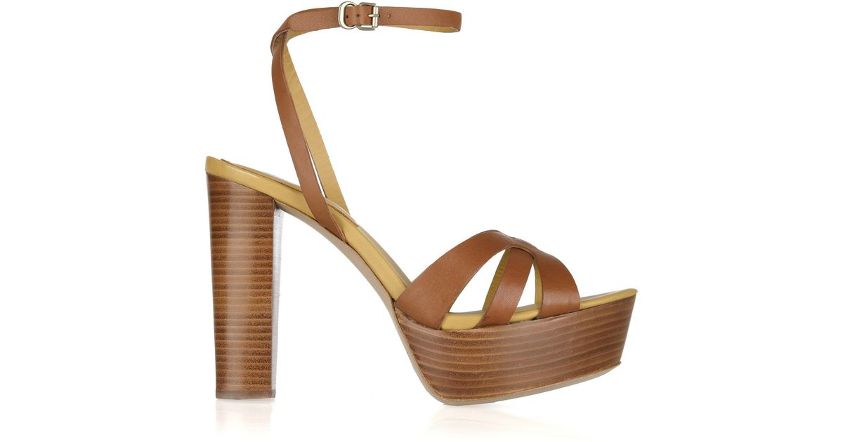 Chloé Heeled Yf7yib6gv Sandals Leather See Wooden By Brown 1JTF3lcK