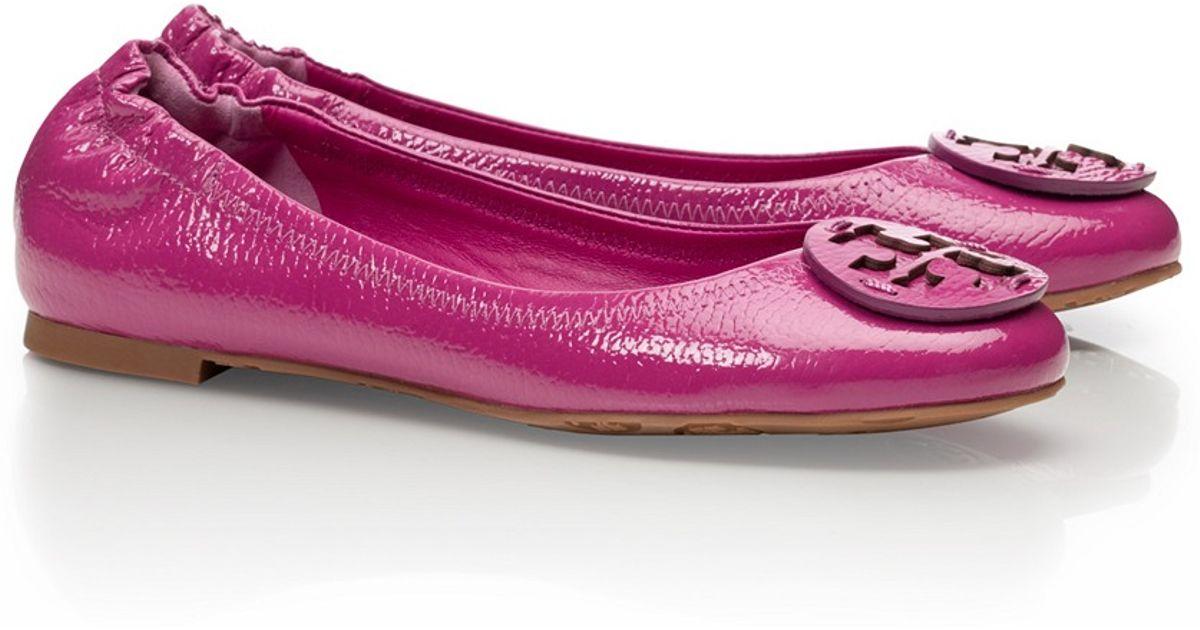 Lyst Tory Leder Burch Tumbled Leder Tory Reva Ballet Flats in Purple 0a15fd