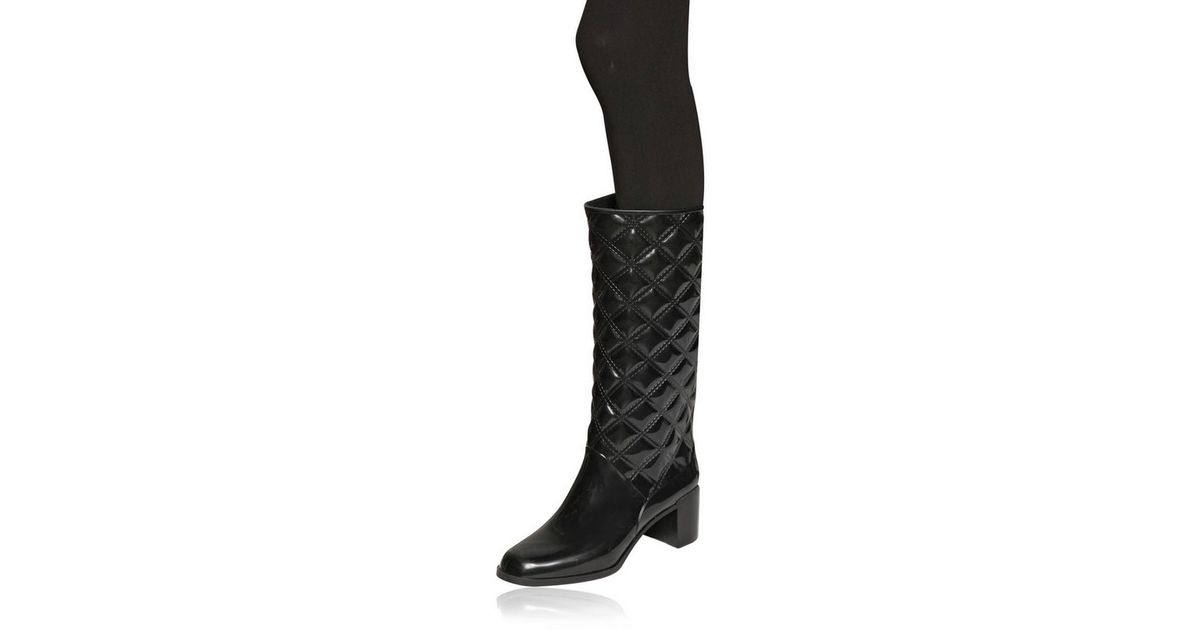2d01330dc03 Marc Jacobs Patent Pvc Quilted Pvc Boots in Black - Lyst