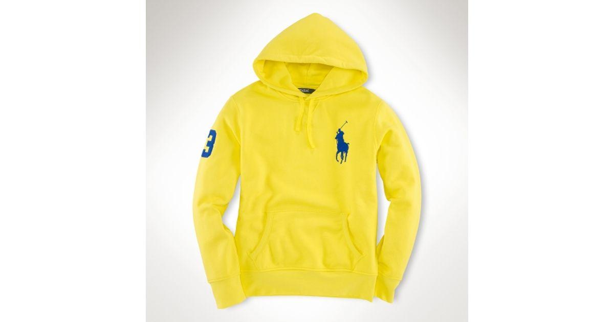 33d6ee1b Polo Ralph Lauren Yellow Big Pony Fleece Hoodie for men