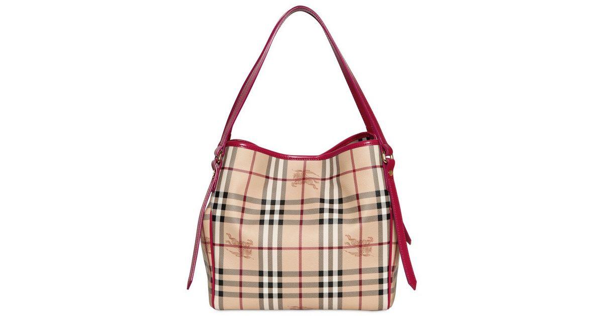 Lyst - Burberry Small Canterbury Haymarket Pvc Bag in Natural e82d2fccd3d56