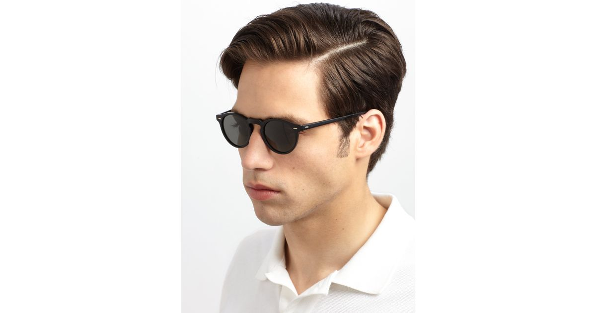 Gregory Peck Sunglasses  oliver peoples gregory peck sunglasses in black for men lyst