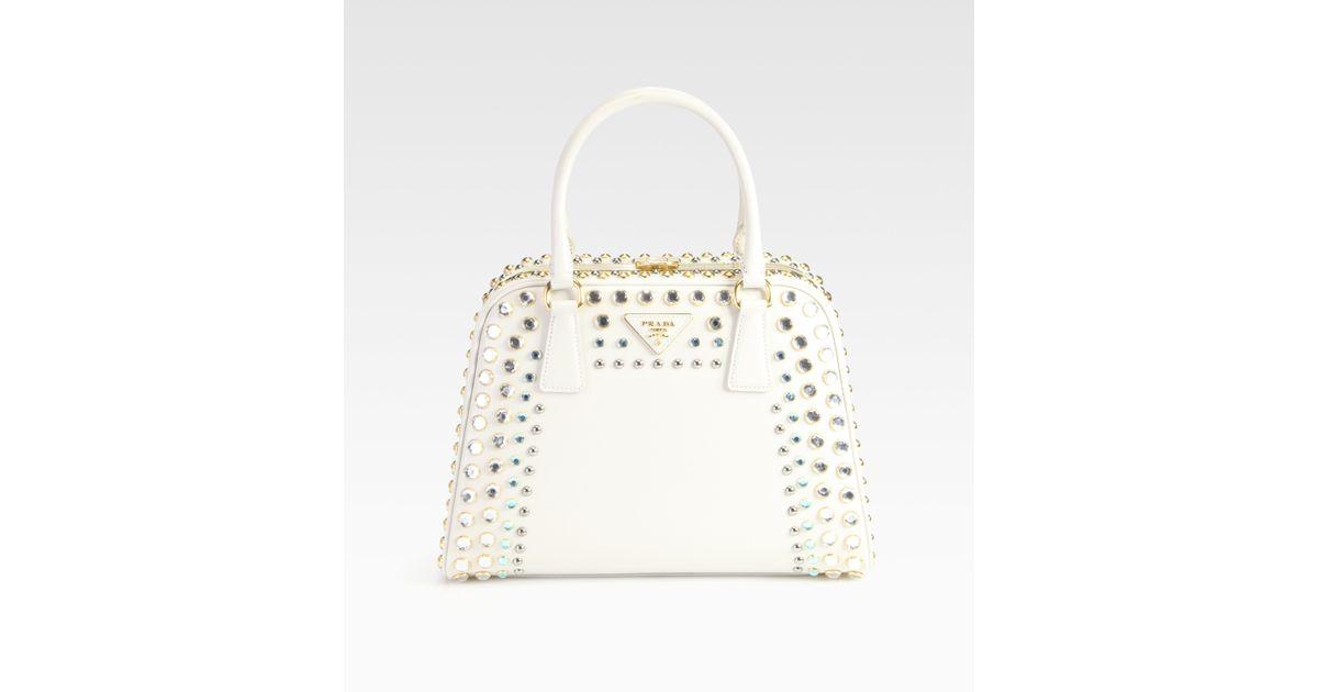 chloe bead gem embellished handle bag