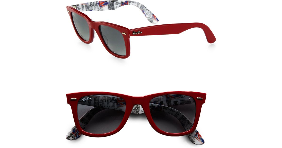 d8e266ff79f Lyst - Ray-Ban London Wayfarer 50mm Sunglasses in Red