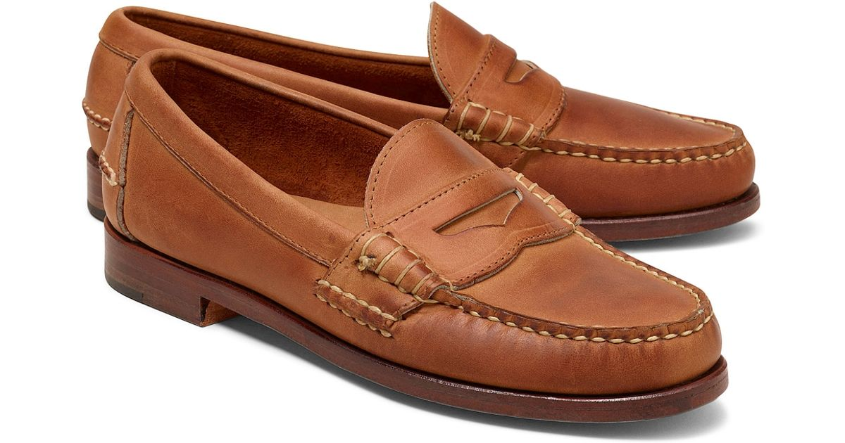 dd21099e75d Lyst - Brooks Brothers Rancourt Co Beef Roll Penny Loafers in Brown for Men