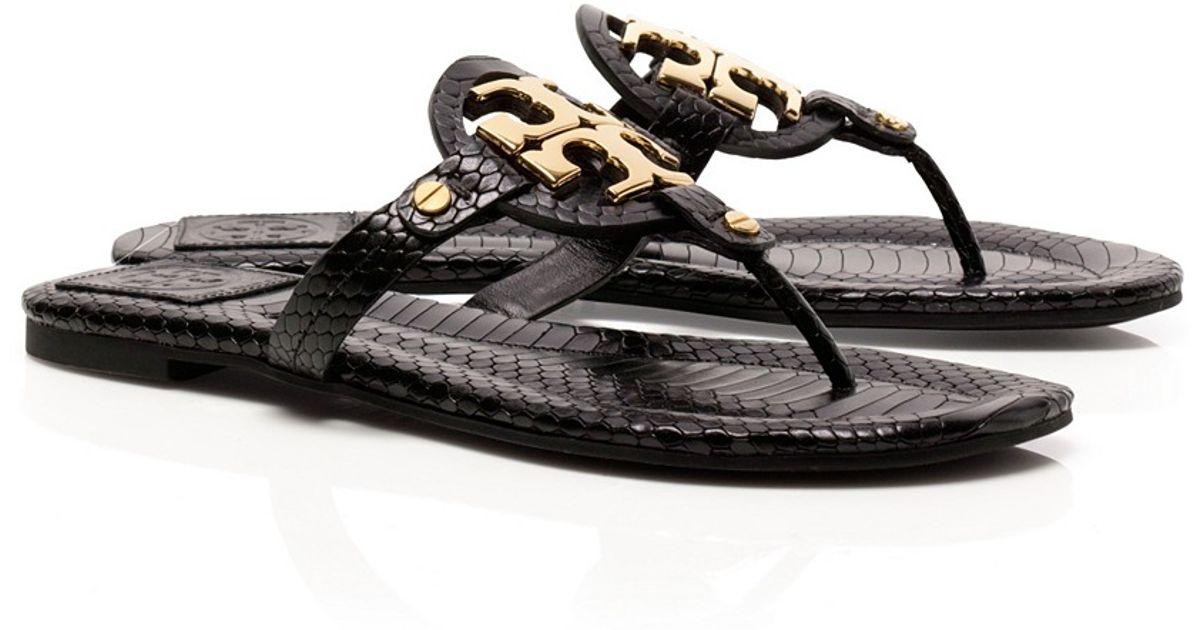 2676e13f87127 Lyst - Tory Burch Snake Print Miller 2 Sandal in Black