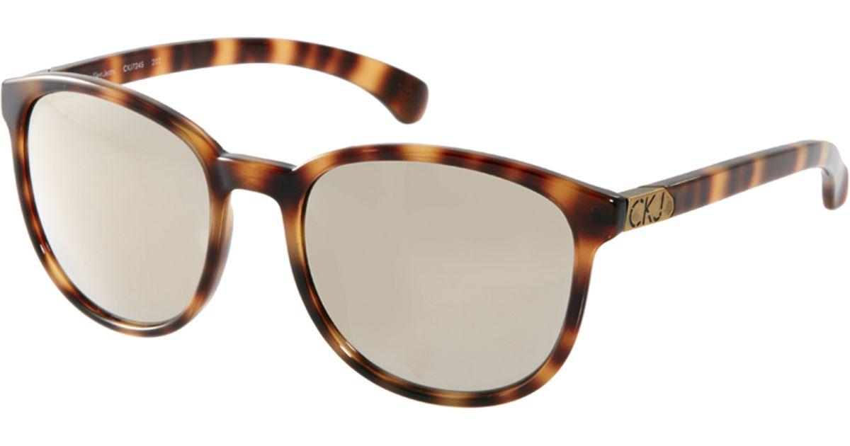 3c72d0a99 Lyst - Calvin Klein Jeans Wayfarer Sunglasses in Brown for Men