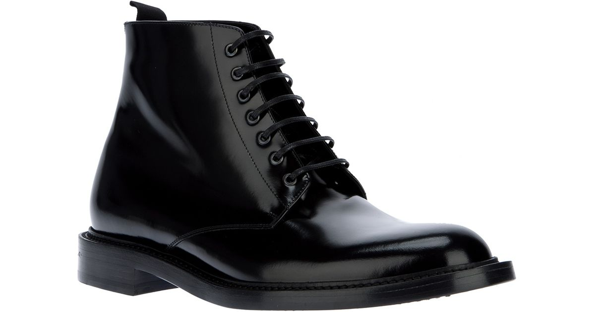 c3d3f2ff050 Saint Laurent Lace Up Army Boot in Black for Men - Lyst