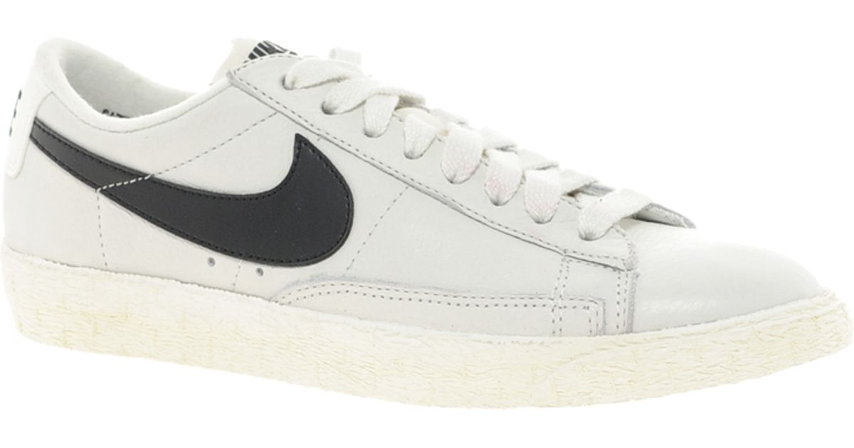 reputable site d5c2d 6cf9d Lyst - Nike Blazer Low White Leather Trainers in White