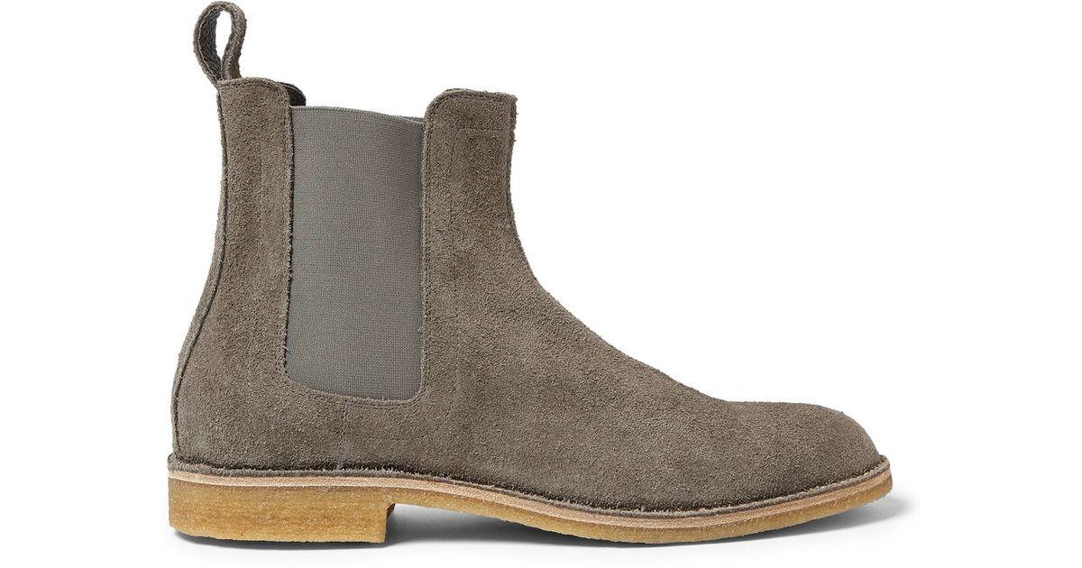 ac234b29321 Bottega Veneta Gray Suede Chelsea Boots for men
