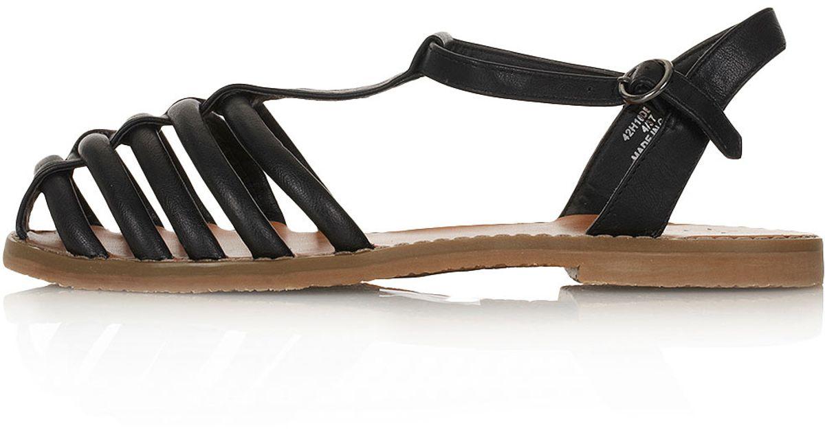 TOPSHOP Hampi Caged Closed Toe Sandals