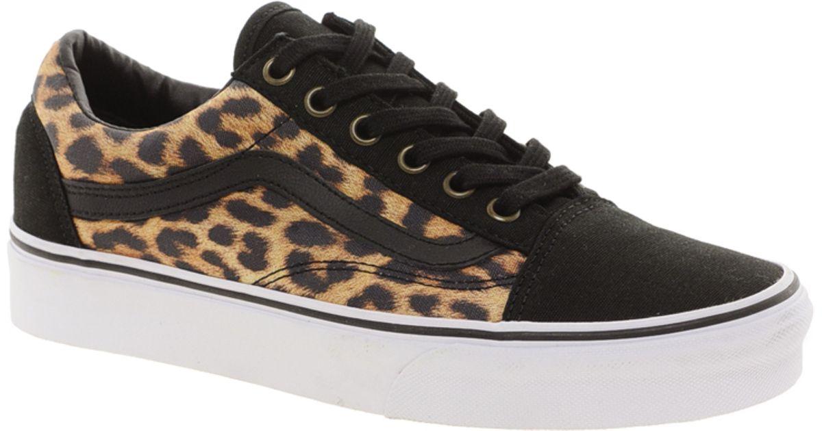 Vans Black Old Skool Leopard Trainers