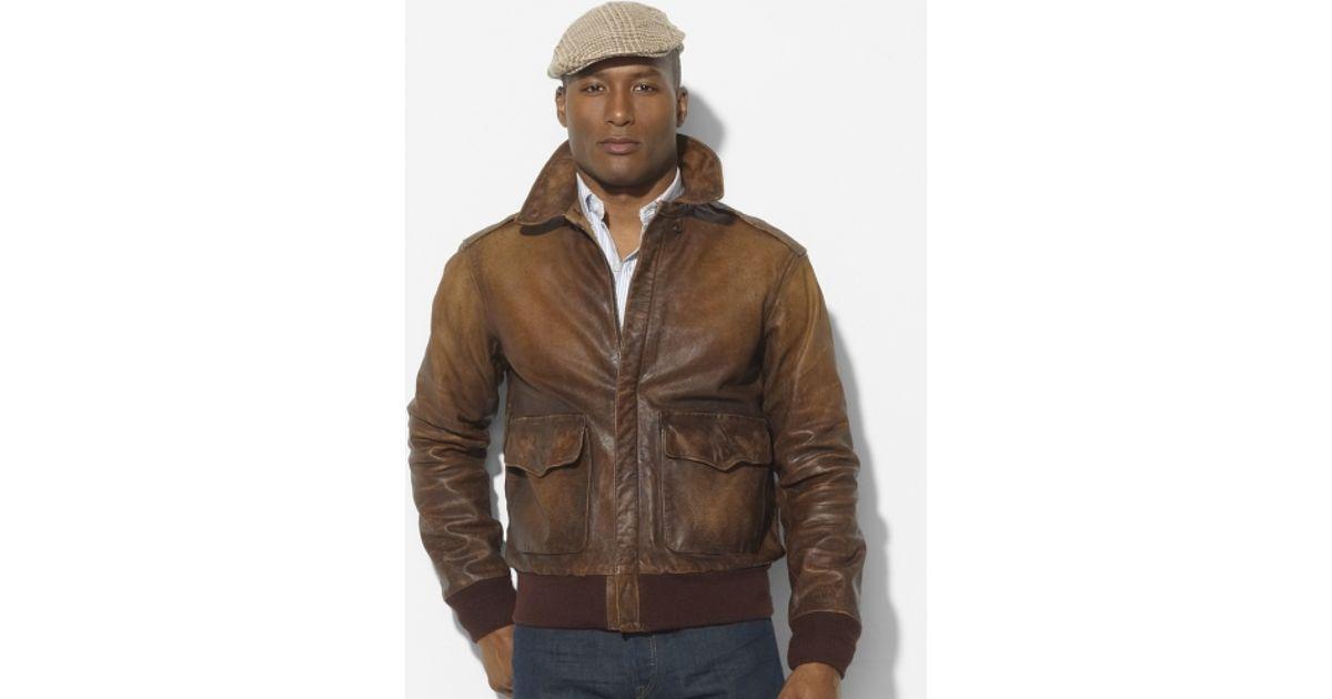 91fb50cbb Polo Ralph Lauren Brown Farrington Bomber Jacket for men