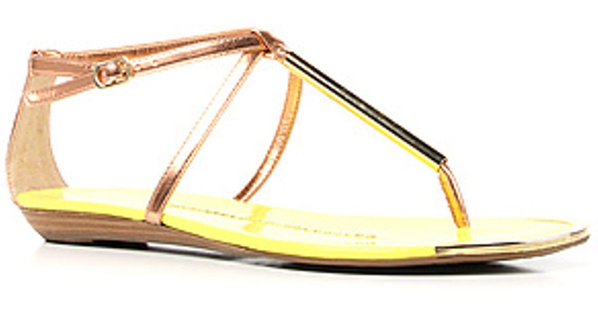 7d50b1dbd47c Lyst - DV by Dolce Vita The Archer Sandal in Rose Gold in Metallic