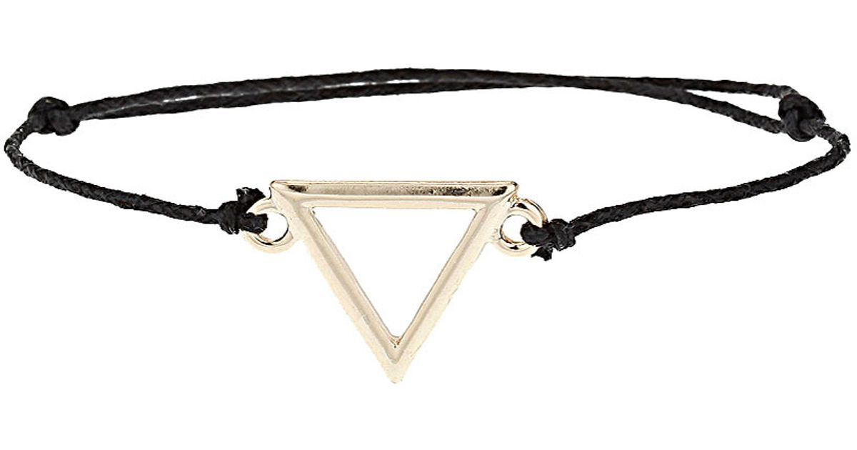 Lyst Topshop Water Symbol Bracelet In Black
