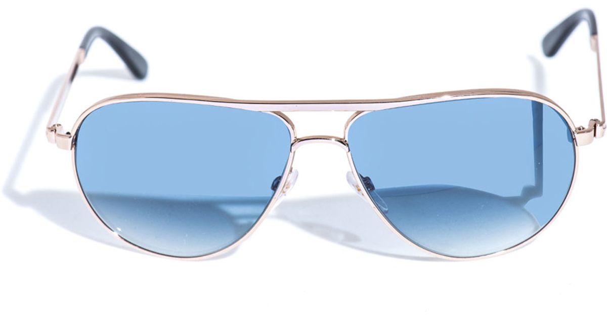 c8beb9e849dd1 Tom Ford Marko Aviator Sunglasses in Metallic for Men - Lyst