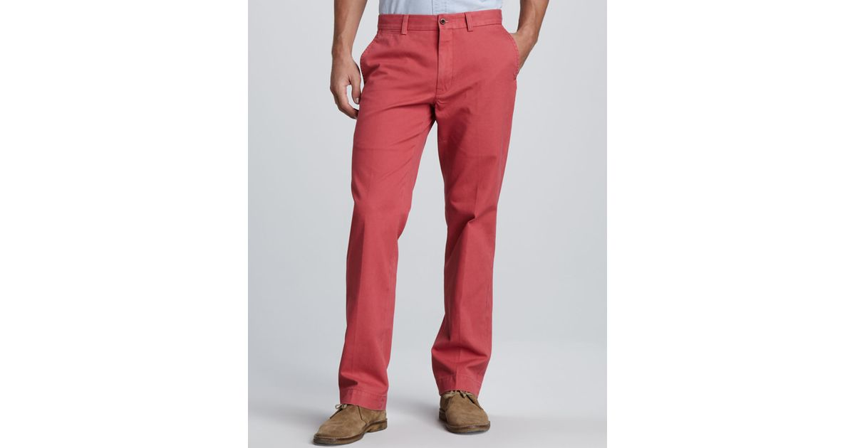 Polo ralph lauren Suffield Twill Pants in Red for Men | Lyst