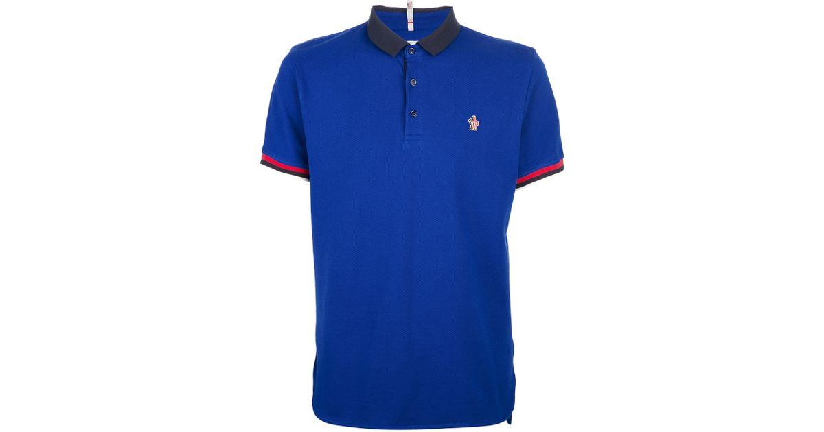 25ee71f6d Moncler Grenoble Blue Polo Shirt for men
