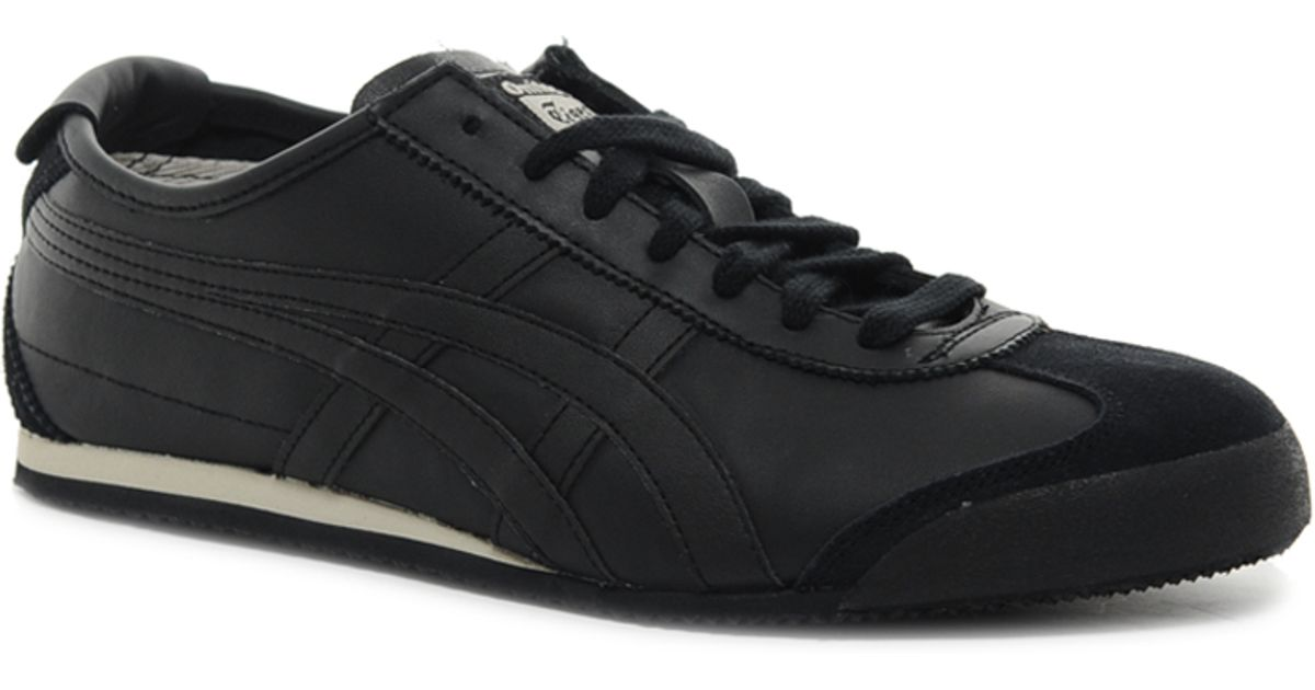 online store 82be9 14726 Onitsuka Tiger Black Mexico 66 Leather Trainers for men