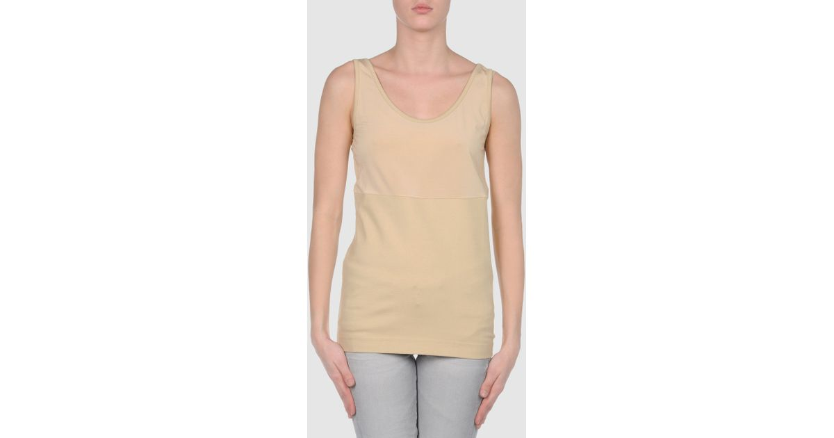 65e5f3fcaf5 Lyst - Maison Margiela Top in Natural