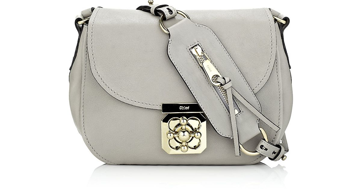 moderate cost thoughts on luxuriant in design Chloé Gray Elsie Crossbody Bag