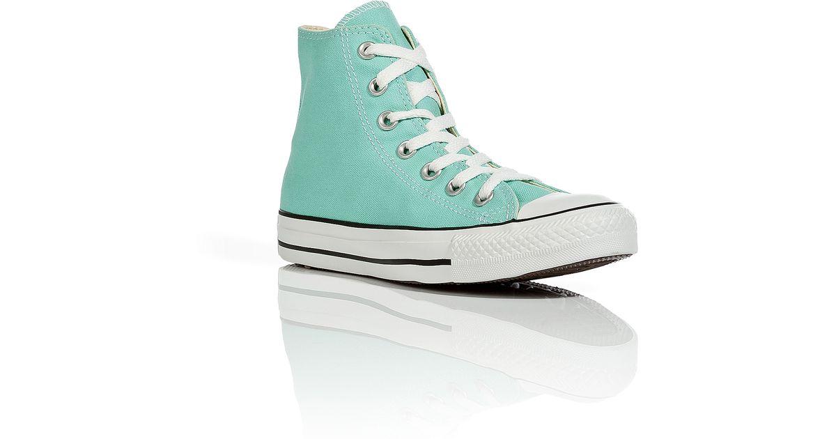 df5d43d018ad7f Lyst - Converse Beach Glass Chuck Taylor All Star Seasonal Hi Sneakers in  Blue