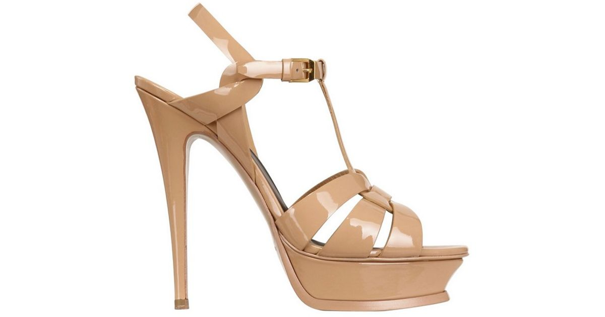 Tribute 75 sandals - Nude & Neutrals Saint Laurent Clearance Affordable Huge Surprise With Credit Card Cheap Price Sale Popular Outlet Deals dYPsV3b
