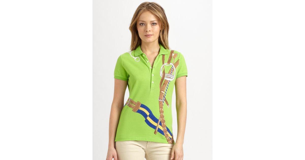 Lauren Bridle Polo Print Jersey Ralph Blue Label Green sQhdCtxr